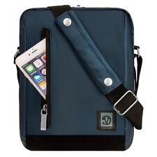 """Navy Blue Shoulder Messenger Bag case for iPad Air / Pro 9.7"""" / LG G Pad 2 10.1"""