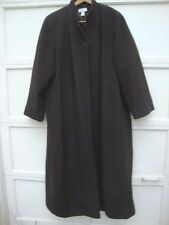 Covington Woman long Dark Brown Wool Coat Lined Womens Size Large 24W Buttons