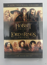 Lord of the Rings Trilogy + The Hobbit Trilogy (Dvd 6 Disc Movie Set) Brand New