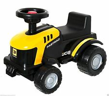 New Elegant JCB Fastrac Ride-On Tractor in Yellow Black Boxed Kids Sit Toy