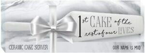 Enesco Our Name is Mud Wedding Rest of our Lives Cake Cutter Server 9.875 Inch