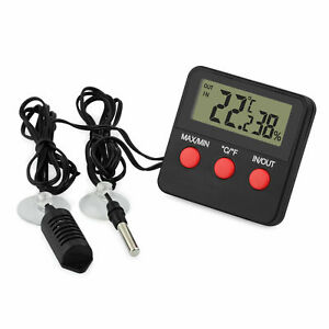 LCD Digital Thermometer Hygrometer Probe for Egg Incubator Pet Keep In/outdoor