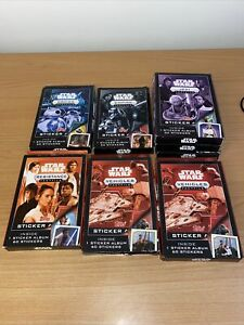 TOPPS STAR WARS FACTFILE COMPLETE 8 STICKER SETS & ALBUMS TOTAL 480 STICKERS