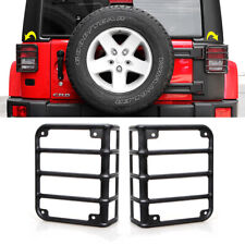 Rear Tail Light Guards Cover Black Euro For 07 18 Jeep Wrangler Jk Unlimited Jku Fits Jeep