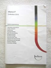 Teutonia Ersatzteil Mistral P  Bedienungsanleitung 2010