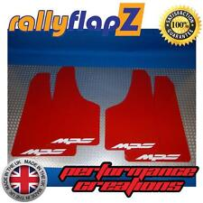 Rally Style  Mudflaps MAZDA 3 MPS (07-09) Mk1 Mud Flaps 4mm PVC Red Logo White