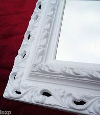 Espejo de Pared 43x36 Barroco Rectangular Blanco Repro Marco Fotos Arabesco 2