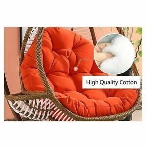 Hanging Rattan Swing Patio Garden Chair Weave Egg Cushion In Outdoor/Indoor