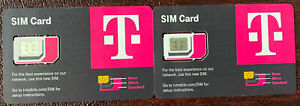 2X Newest T-Mobile SIM CARD R15 5G 4G LTE TMobile Triple Cut Nano Micro 3 In 1