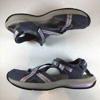 Teva US Women 9 Shoe Brown Lavender Womens Close Toe Sport Hiking River Sandal