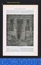 The Temple of Dendera in Egypt - 1899 History Print
