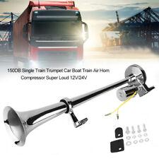 150DB Single Trumpet Car Truck Train Van Air Horn Compressor Super Loud 12V/24V
