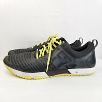 Reebok Crossfit CF74 Black Yellow Running Training Weight Shoes Mens Size 14