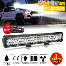 20INCH 560W CREE Led Light Bar Work Driving Offroad Combo beam+wiring kit 12V24V