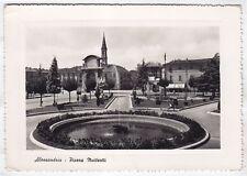 0127 ALESSANDRIA CITTÀ - FONTANA Cartolina FOTOGRAFICA viaggiata 1952