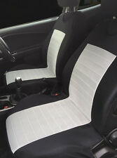 2 GREY FRONT SEAT COVERS PROTECTORS WITH BARS FOR VOLKSWAGEN SCIROCCO