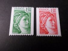 Francia, 1979 Set Roulette Sabine 2062/2063 2 Valori, Francobolli ** MNH