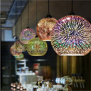 LED Chandelier 3D Glass Ceiling Lamp Pendant Hanging Light Fireworks Lighting