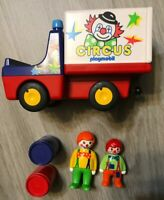 Playmobil 1.2.3 Circus Time Vintage Collectible Circus Clown Truck 1990 EUC