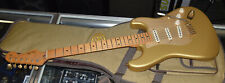 2004 FENDER STRATOCASTER ELECTRIC GUITAR 50TH ANNIVERSARY GOLD MEXICO & BAG