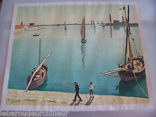 Lithographie de Marquet. Lithograph signed by Marquet