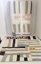 Pottery Barn Pauline Boyd Coastline Patchwork Quilt & Pillow Cover New w/Tags