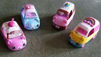 SHOPKINS CUTIE CARS Lot Of 4 Cherry Rainbow Sprinkles Ice Cream