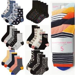 Fa M ou S High St Store M S Women's Ankle High Sumptuously Soft Socks 5 Pairs