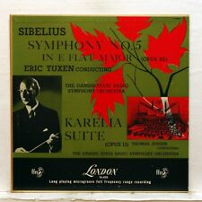 ERIK TUXEN, THOMAS JENSEN - SIBELIUS Symphony no.5, Karelia suite LONDON LP EX+