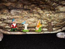 New listing Fairy Garden Lot Bunny Rabbit Gnome Blue Bird Bath Fairy
