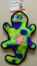 No Stuffing Dog Toy Durable Squeaker Toss and Tug Gecko by Outward Hound