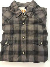 Hugo Boss Boss Orange Dress Shirt Black/gray Plaids Size S