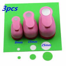 0.3'' 0.6'' 1'' paper circle cutter shapes craft punch diy puncher paper cutter