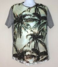 Cohesive & Co Paseo Heather Grey Short Sleeve Cotton T-Shirt Size M NWT