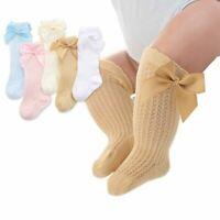 1 Pair Bowknot Baby Socks Autumn Summer Infant Toddler Knee High Socks Soft Mesh