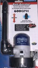 600 GPH Portable Bait Aerator 12 Volt Bucket Cooler Fresh or Salt Water 7' Leads