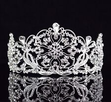 Daisy Clear Austrian Rhinestone Crystal Tiara Crown Bridal Pageant Prom Wed T14