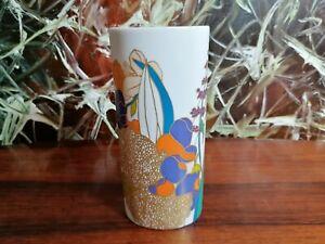 Rosenthal Studio Line, Classy High Oval Vase 20cm W.Bauer , Flowers/Gold Decor