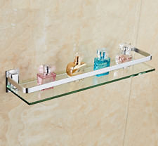 Bathroom Glass Shower Shelf Space aluminum Shampoo Basket Wall Storage rack New