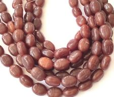 25 Vintage Trade Opal Oval Rusty Brown Czech Bohemian Glass beads