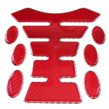 Red Carbon Fibre 3D Resin Gel Tank Pad K1