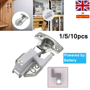 1-10X LED Sensor Hinge Night Light Lamp Kitchen Cabinet Closet Cupboard Wardrobe