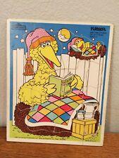 VTG Playskool Big Bird Time Stories Puzzle 1984 Muppets Little Bird 315-24 Wood