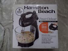 Hamilton Beach Stand Mixer Double As Hand Mixer Bake Cook Kitchen Black NEW!