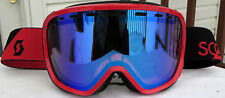 NEW $85 Scott Womens Avie RARE Red Winter Snow Ski goggles Ladies Roxy Blue lens