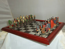 ITALFAMA AB007 ROBIN HOOD SHERWOOD FOREST CHESS SET GAME WITH WOOD BOARD