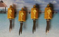 Set of Four Resin Corn Cob Shaped Corn Cob Holders