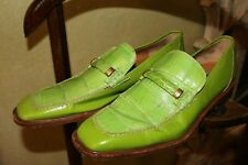 One of a kind Lime Green Alligator Leather Shoes. Excellent Condition. Mens 12