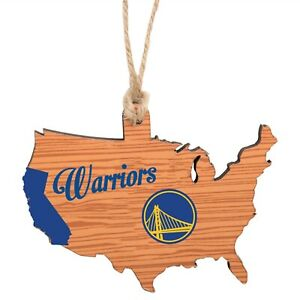 Golden State Warriors Christmas Tree Holiday Ornament - state Wooden Nation USA