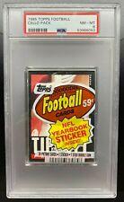 1985 Topps Football Cello Pack PSA 9 / Joe Montana HOF on Top 49ers 678